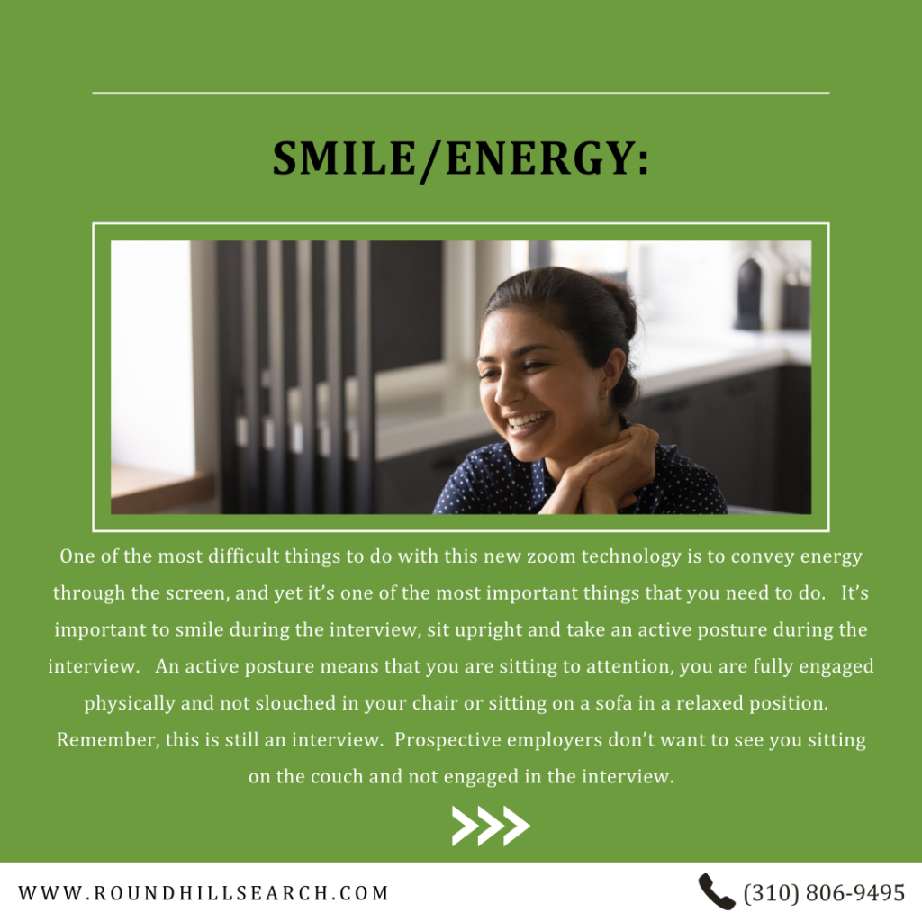 zoom interview tips - smmile/energy