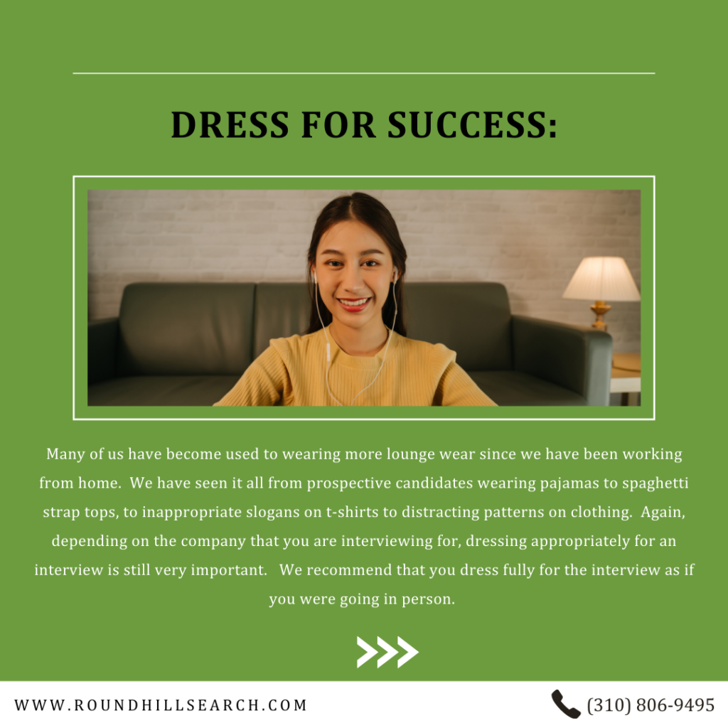 zoom interview tips - dress for success