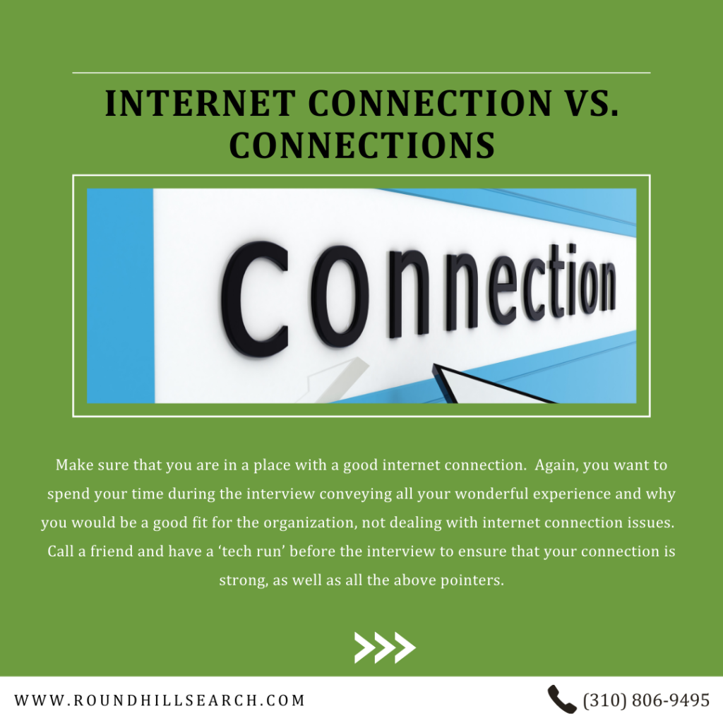 zoom interview tips - good internet connection